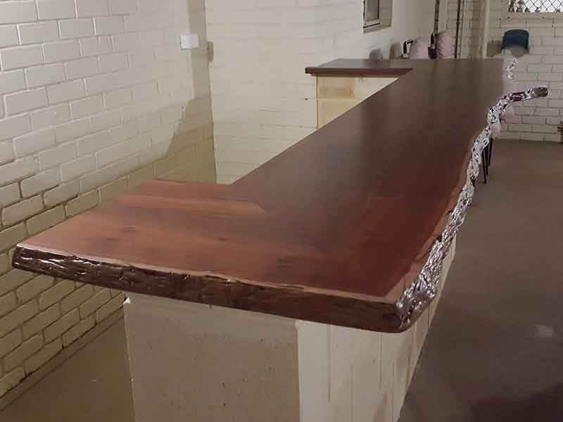 Marri bar top with preparation bench
