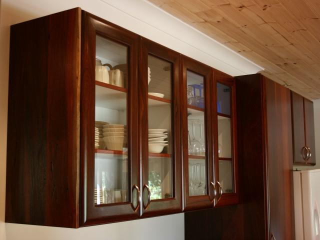 Jarrah overhead cabinets - Timberbenchtopsperth