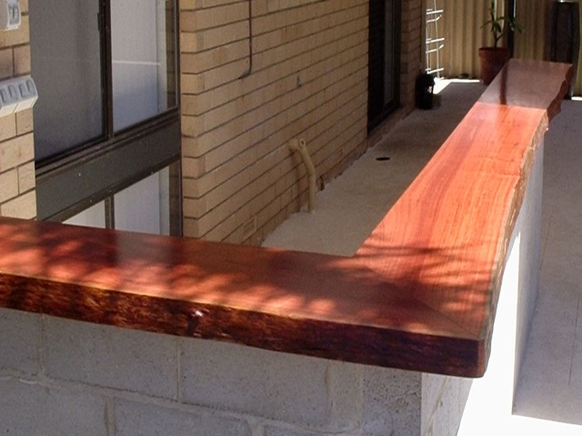 Exterior jarrah bar top