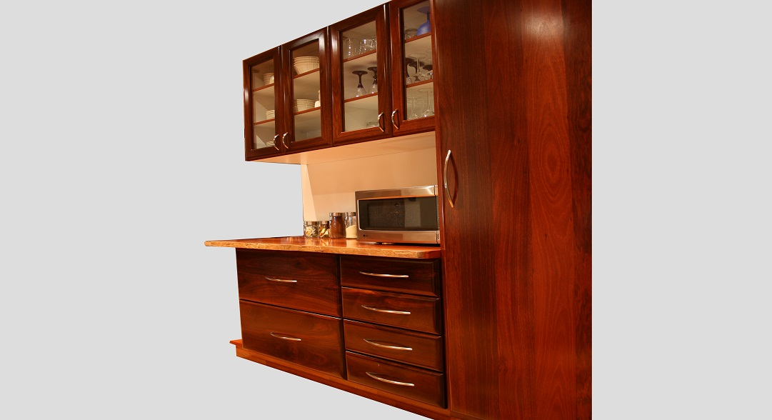 Jarrah cabinets and bench top
