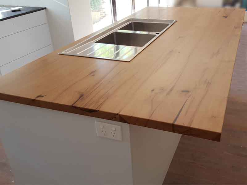Marri kitchen bench tops