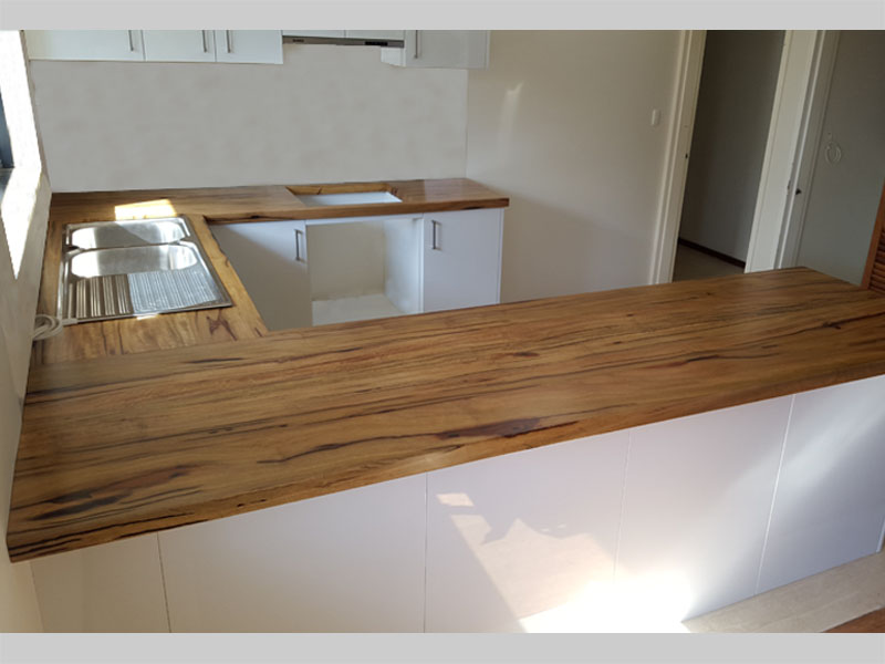 U-shaped marri kitchen bench tops