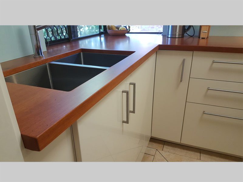 Sheoak kitchen bench tops