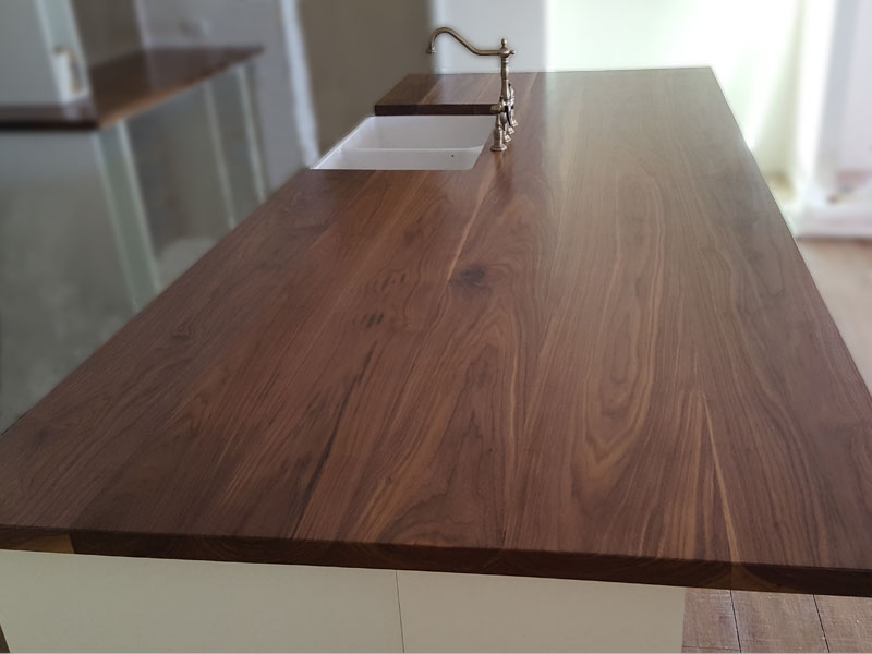 American Black Walnut kitchen bench tops