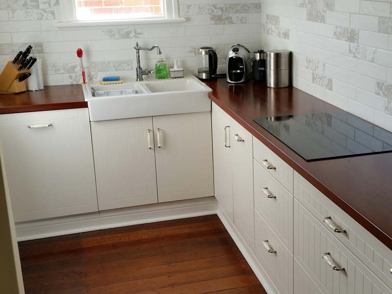Jarrah kitchen bench tops