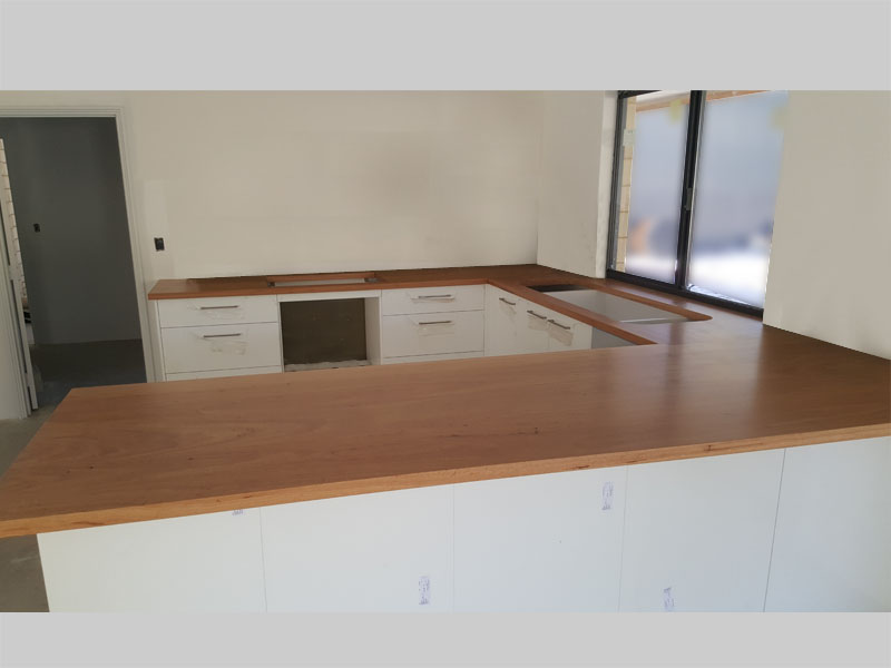Blackbutt kitchen bench tops