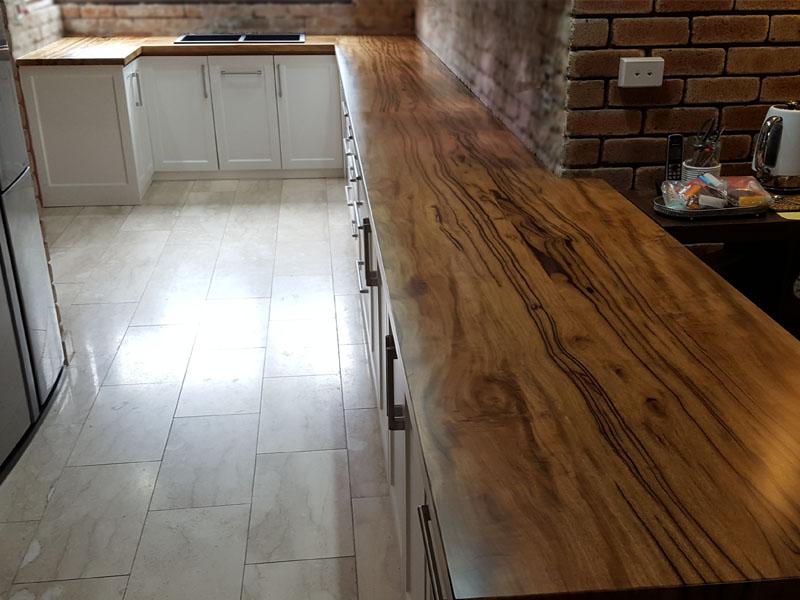 Marri kitchen bench tops, 6m long